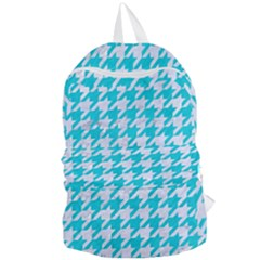 Houndstooth1 White Marble & Turquoise Colored Pencil Foldable Lightweight Backpack