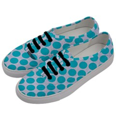 Circles2 White Marble & Turquoise Colored Pencil (r)encil (r) Men s Classic Low Top Sneakers by trendistuff