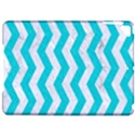 CHEVRON3 WHITE MARBLE & TURQUOISE COLORED PENCIL Apple iPad Pro 9.7   Hardshell Case View1