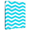 CHEVRON3 WHITE MARBLE & TURQUOISE COLORED PENCIL Apple iPad Pro 9.7   Hardshell Case View2