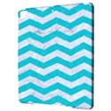 CHEVRON3 WHITE MARBLE & TURQUOISE COLORED PENCIL Apple iPad Pro 9.7   Hardshell Case View3