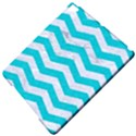 CHEVRON3 WHITE MARBLE & TURQUOISE COLORED PENCIL Apple iPad Pro 9.7   Hardshell Case View5