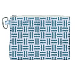 Woven1 White Marble & Teal Leather (r) Canvas Cosmetic Bag (xl) by trendistuff