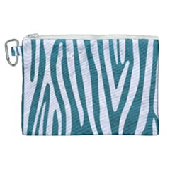 Skin4 White Marble & Teal Leather (r) Canvas Cosmetic Bag (xl) by trendistuff