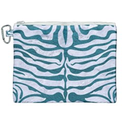 Skin2 White Marble & Teal Leather (r) Canvas Cosmetic Bag (xxl) by trendistuff