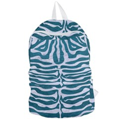 Skin2 White Marble & Teal Leather Foldable Lightweight Backpack by trendistuff