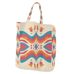 Symmetric Distorted Shapes                          Giant Grocery Zipper Tote by LalyLauraFLM