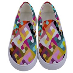 Colorful Shapes                         Kids  Canvas Slip Ons