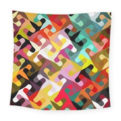 Colorful Shapes                              Square Tapestry by LalyLauraFLM
