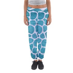 Skin1 White Marble & Teal Brushed Metal (r) Women s Jogger Sweatpants by trendistuff