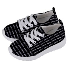 Bored Comic Style Word Pattern Kids  Lightweight Sports Shoes by dflcprints