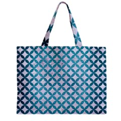 Circles3 White Marble & Teal Brushed Metal (r) Zipper Mini Tote Bag by trendistuff