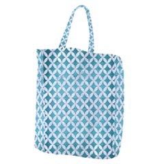 Circles3 White Marble & Teal Brushed Metal Giant Grocery Zipper Tote by trendistuff