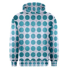 Circles1 White Marble & Teal Brushed Metal (r) Men s Overhead Hoodie