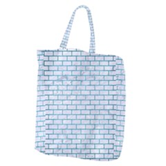 Brick1 White Marble & Teal Brushed Metal (r) Giant Grocery Zipper Tote by trendistuff