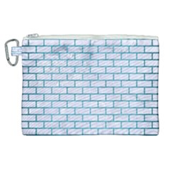 Brick1 White Marble & Teal Brushed Metal (r) Canvas Cosmetic Bag (xl) by trendistuff