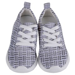 Woven1 White Marble & Silver Paint (r) Kids  Lightweight Sports Shoes