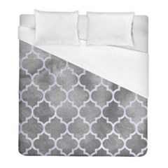 Tile1 White Marble & Silver Paint Duvet Cover (full/ Double Size) by trendistuff