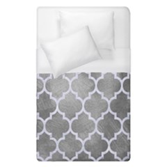 Tile1 White Marble & Silver Paint Duvet Cover (single Size) by trendistuff