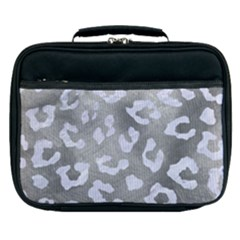 Skin5 White Marble & Silver Paint (r) Lunch Bag by trendistuff