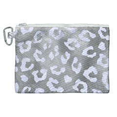 Skin5 White Marble & Silver Paint (r) Canvas Cosmetic Bag (xl) by trendistuff