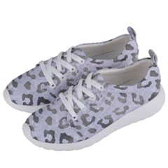 Skin5 White Marble & Silver Paint Women s Lightweight Sports Shoes by trendistuff