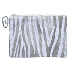 Skin4 White Marble & Silver Paint (r) Canvas Cosmetic Bag (xl) by trendistuff