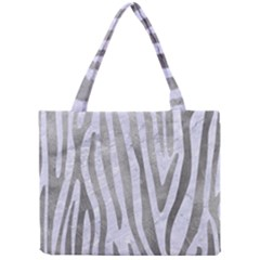 Skin4 White Marble & Silver Paint Mini Tote Bag by trendistuff
