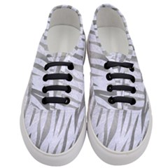 Skin3 White Marble & Silver Paint (r) Women s Classic Low Top Sneakers