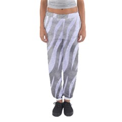 Skin3 White Marble & Silver Paint Women s Jogger Sweatpants by trendistuff