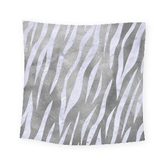 Skin3 White Marble & Silver Paint Square Tapestry (small) by trendistuff