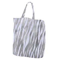 Skin3 White Marble & Silver Paint Giant Grocery Zipper Tote by trendistuff