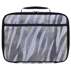 Skin3 White Marble & Silver Paint Full Print Lunch Bag by trendistuff