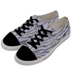 Skin2 White Marble & Silver Paint (r) Men s Low Top Canvas Sneakers by trendistuff