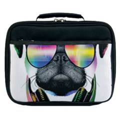 Dj Pug Cool Dog Lunch Bag by alexamerch