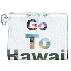 Hawaii Canvas Cosmetic Bag (xxl) by Howtobead