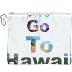Hawaii Canvas Cosmetic Bag (xxxl) by Howtobead