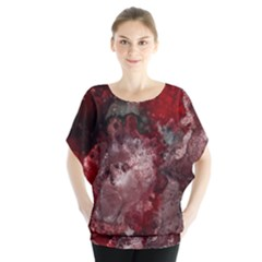 How Red Was Born Batwing Chiffon Blouse by Terzaek