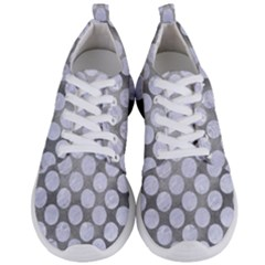 Circles2 White Marble & Silver Paint Men s Lightweight Sports Shoes