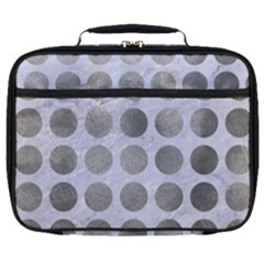 Circles1 White Marble & Silver Paint (r) Full Print Lunch Bag by trendistuff