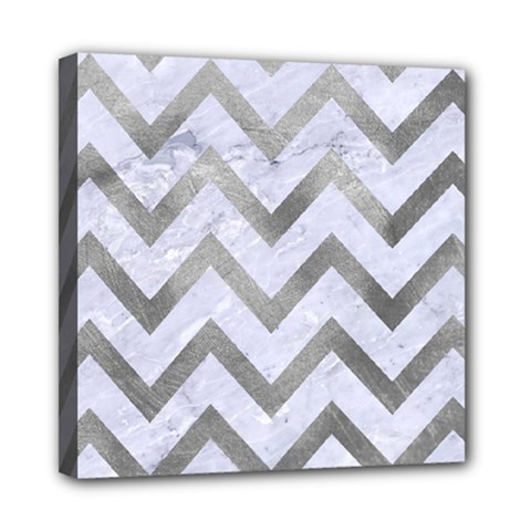 Chevron9 White Marble & Silver Paint (r) Multi Function Bag	 by trendistuff