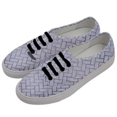 Brick2 White Marble & Silver Paint (r) Men s Classic Low Top Sneakers by trendistuff