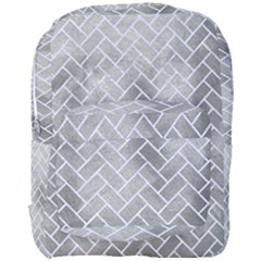 Brick2 White Marble & Silver Paint Full Print Backpack by trendistuff