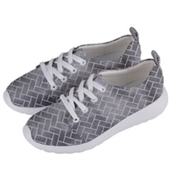 Brick2 White Marble & Silver Paint Women s Lightweight Sports Shoes by trendistuff