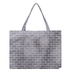 Brick1 White Marble & Silver Paint Medium Tote Bag by trendistuff