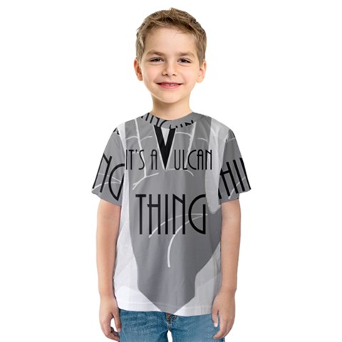 It s A Vulcan Thing Kids  Sport Mesh Tee by Howtobead