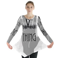 It s A Vulcan Thing Long Sleeve Tunic  by Howtobead