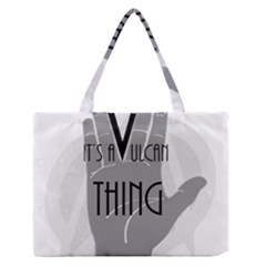 It s A Vulcan Thing Zipper Medium Tote Bag