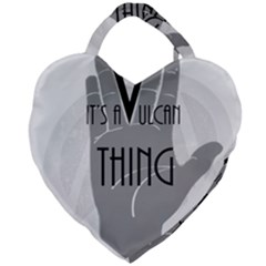 It s A Vulcan Thing Giant Heart Shaped Tote by Howtobead