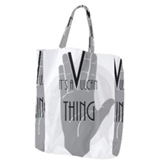Vulcan Thing Giant Grocery Zipper Tote by Howtobead